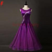Women ballroom dancing clothing sexy mesh sleeveless ballroom dance dress for girls ballroom dance dress dance wear S 6XL