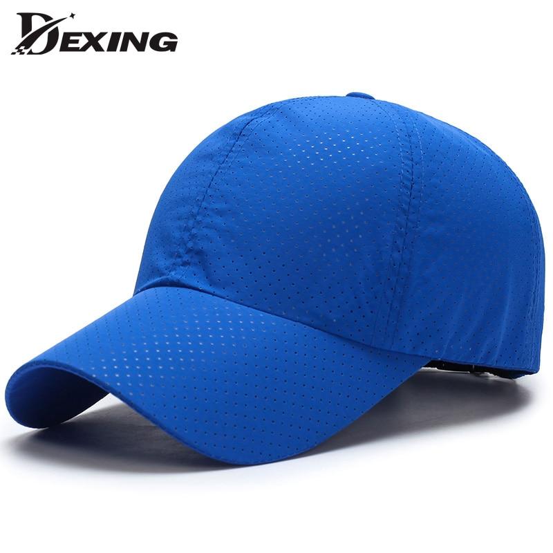 [Dexing] Summer Snapback Quick Dry Mesh Baseball Cap Sun Hat Men Women Bone Breathable Hats  trucker hat