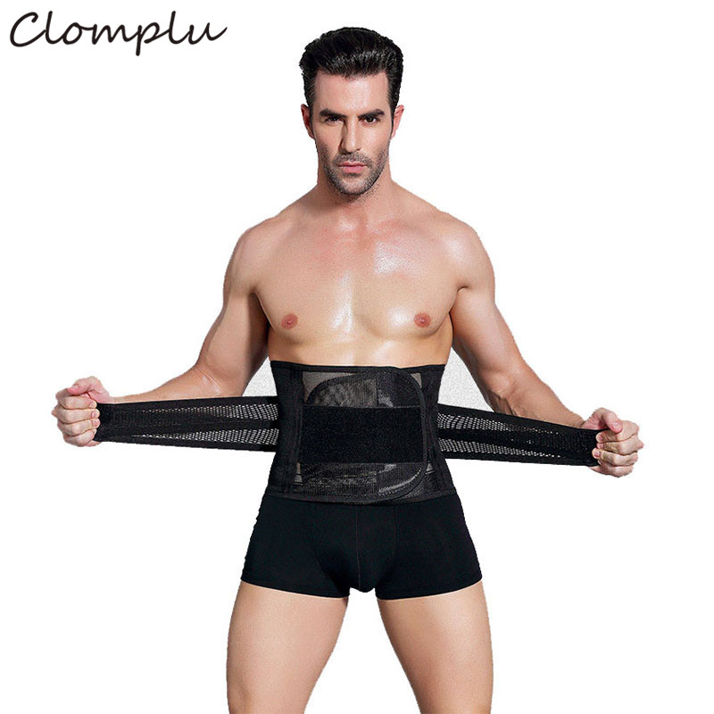 Clomplu Abdominal Binder For Man Waist Trainers Male Modeling Straps Belly Corset For Men Breathable Steel Bone Tummy Control