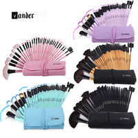 2015 Professional 32 Pcs Makeup Brushes Set Tools Make Up Toiletry Kit Wood Techniques Powder Make