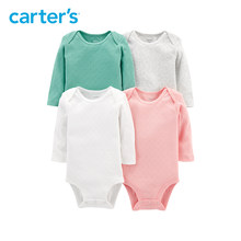 Carters 4-Pack Hearts Original Bodysuits Soft cotton solid long sleeve baby girl bodysuit autumn winter baby clothes 126H673(China)