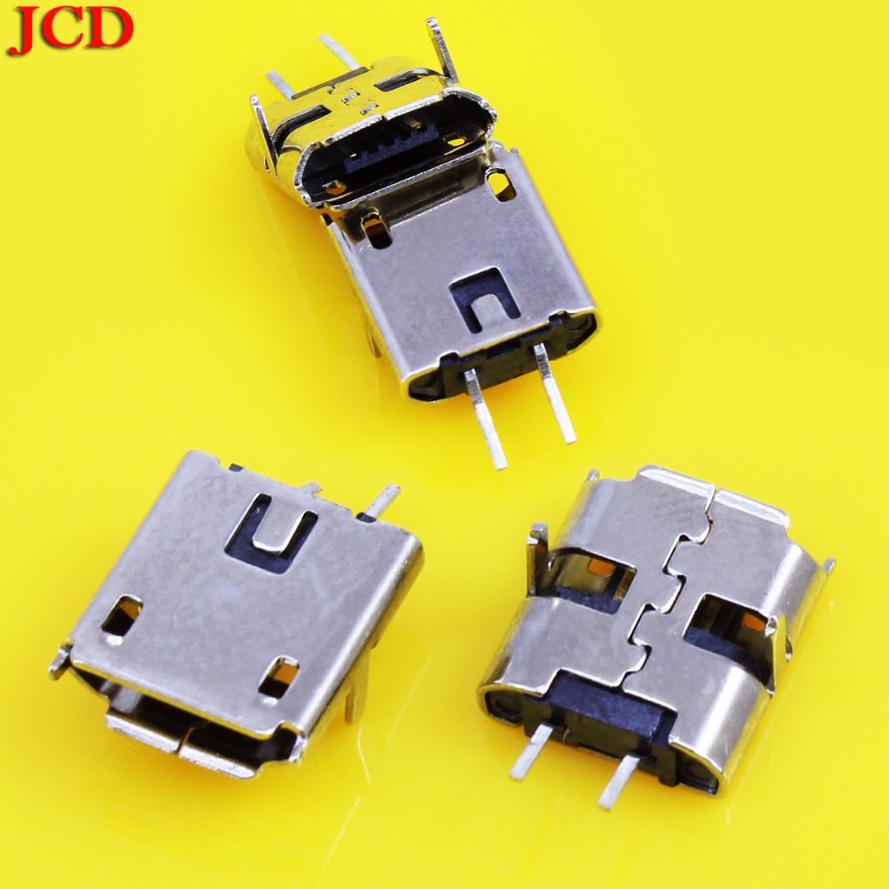 Cheap Price Jcd New Usb 90 Degree Dip 2 Pin Usb Connectors Plastic Shell Micro Usb Connector Jack Tail Plug Mini Sockect Terminals Top Watermelons