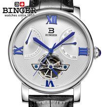 bc3611e748d Suíça relógio marca de luxo dos homens Relógios de Pulso BINGER relógio  Mecânico Mergulhador relógio com