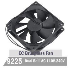 2pcs Gdstime 90mm 92mm 92mm x 25 mm EC Brushless Cooling Fan AC 110V 115V 120V 220V 240V Cooler Axial Indsutry Cooling Fan 220x220x60 axial ac fan ac 380v 220 220 60 20060 cooler cooling fan