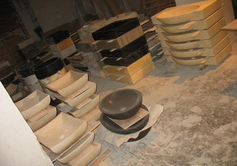 Bruine Vlekken Badkamer : Natuursteen vessel sink graniet met bruine vlekken oppervlak