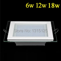 Free Shipping SMD5730 6W 12W18W Square Aluminum With Glass LED Panel Light For Bedroom Recesssed LED