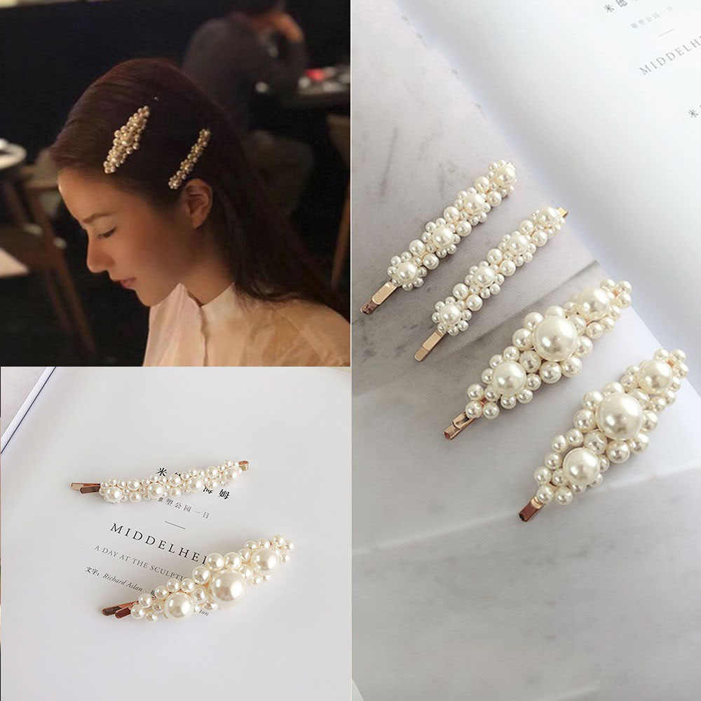Fashion Hair Claws Pearl Lady Headwear Accessories for Women Hairpins Hair Clip Barrette Styling Tool