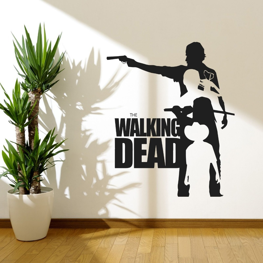 Walking dead wall art decals vinyl moive poster removable banksy walking dead wall art decals vinyl moive poster removable banksy wall stickers for living room home decor drop shipping in wall stickers from home garden amipublicfo Gallery