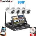 Беспроводная камера наблюдения система 7 дюймов ЖК-дисплей 4CH Wifi NVR P2P 20 м ИК Ночное Видение 960P HD Беспроводная CCTV система Wifi