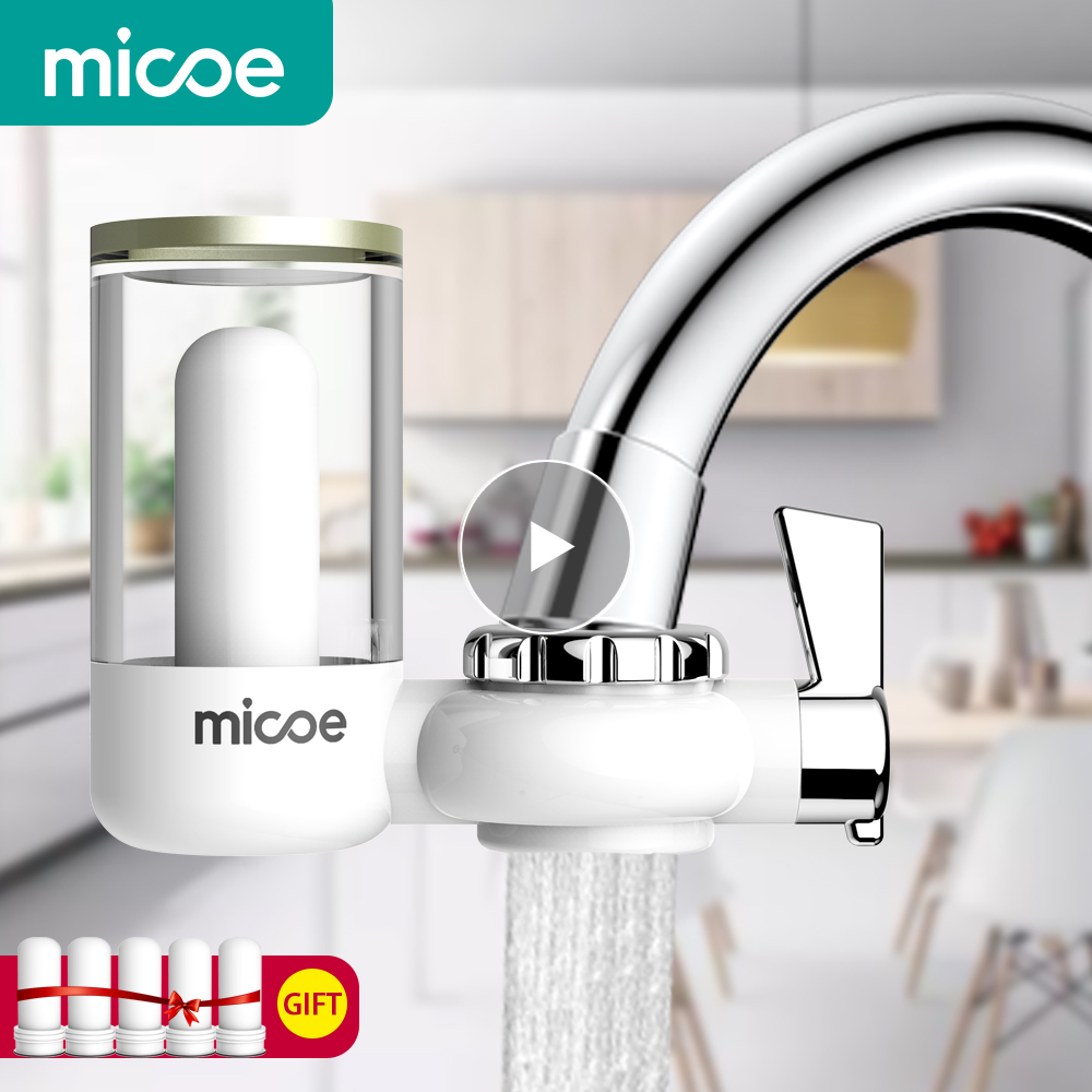 Micoe Water Purifier Filter Faucet Filtration System with Washable Ceramics Filter Core faucet filter H D2001W