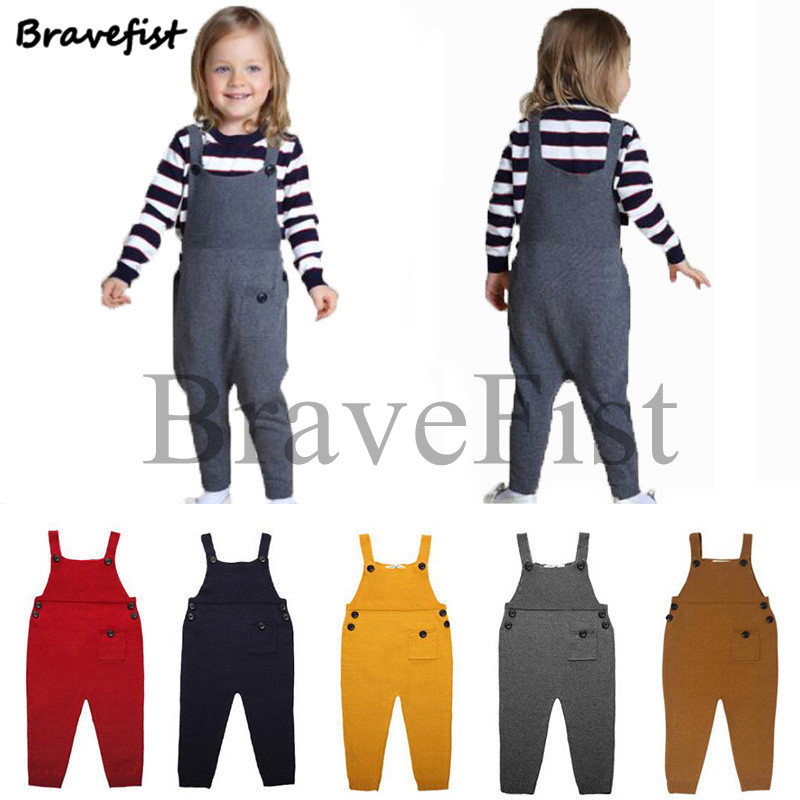 Spring Autumn Baby Girl Overalls Cotton Pant Children Overalls Girl Boy Jumpsuits Baby Cute Knitted Overalls Kids Clothes Romper baby clothes spring autumn hooded pikachu overalls infant romper jumpsuits newborn baby boy girl clothes