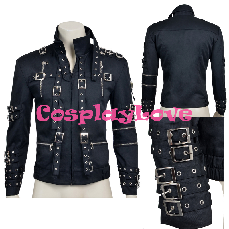 New Custom Made High Quality America Michael Jackson Jacket Coay Cosplay Costume For Halloween