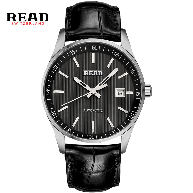 Read Mens Watches Vintage Relojes Leather Black Mechanical Wrist Watche 50M Water Resistant Sports casual Top Brand Luxury PR149 rga r 981 sports watche black
