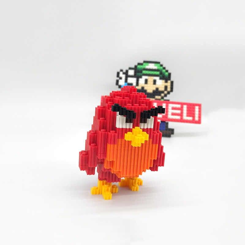 MUMUELI Angry Birds Chuck 1000-1500 Cái TỰ LÀM Trò Chơi Hình 3D Bộ Mô Hình Khối Bé Ghép Hình Trẻ Em Xây Dựng Nhựa đồ chơi KL-HNF