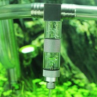 Stainless Steel External U Tubes Bend CO2 Diffuser Aquarium Tank Carbon Dioxide Atomizer Regulator Reactor Generator