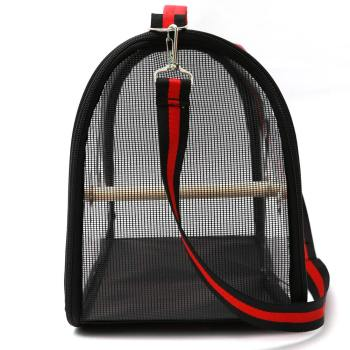 Lightweight Bird Carrier Cage Transparent Clear PVC Breathable Parrots Travel Bag @LS