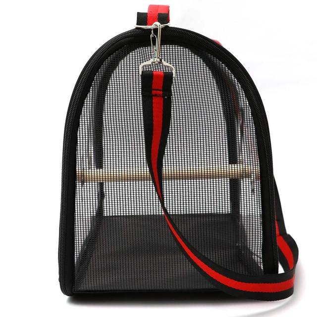 Lightweight Bird Carrier Cage Transparent Clear PVC Breathable Parrots Travel Bag @LS