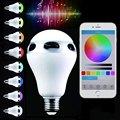Lightme E26 E27 Lâmpada LED Inteligente Inteligente Colorido Mudança de Cor LED Light Bluetooth Speaker Sem Fio Lâmpadas De Controle RC
