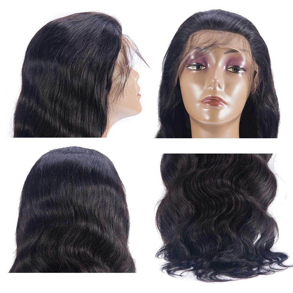 13*4 парики из натуральных волос на кружеве для женщин бразильские волнистые волосы для наращивания волос al парик предварительно сорванные с волосами младенца remy натуральный цвет