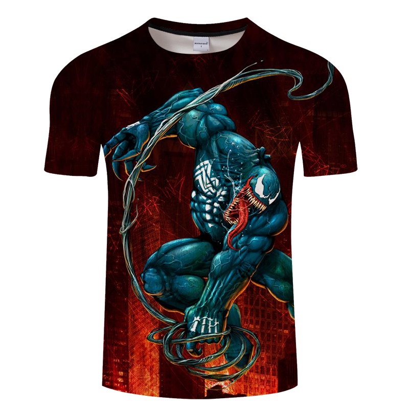 2019 new venom male T-shirt 3d-printed Star Wars casual T-shirt summer cool T-shirt fashion trend youth short-sleeved shirt