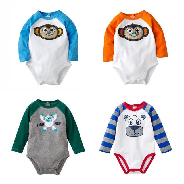 Nová značková vysoce kvalitní 100% bavlna novorozenecká chlapci s dlouhými rukávy Oblečení Jumpsuit Creepers Bodysuit pro Bebe podzimní oblečení