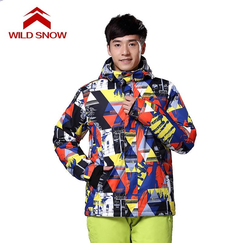 Neige sauvage hommes et femmes manteau de snowboard veste de neige coupe-vent imperméable vestes de Ski hiver à capuche vêtements de montagne vêtements Outwear - 5