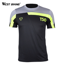 WEST BIKING Bicycle Jersey Men's t-shirt Quick Dry Breathable T-shirts Men Jersey Running Shirt Soccer Jerseys Bicycle Jersey