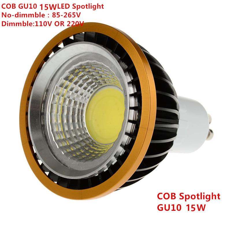 1 pièces LED COB PAR20 ampoule 220 V 110 V dimmable GU10 15 W ampoule LED P20 projecteurs lampes blanc chaud blanc froid blanc Spot lumière