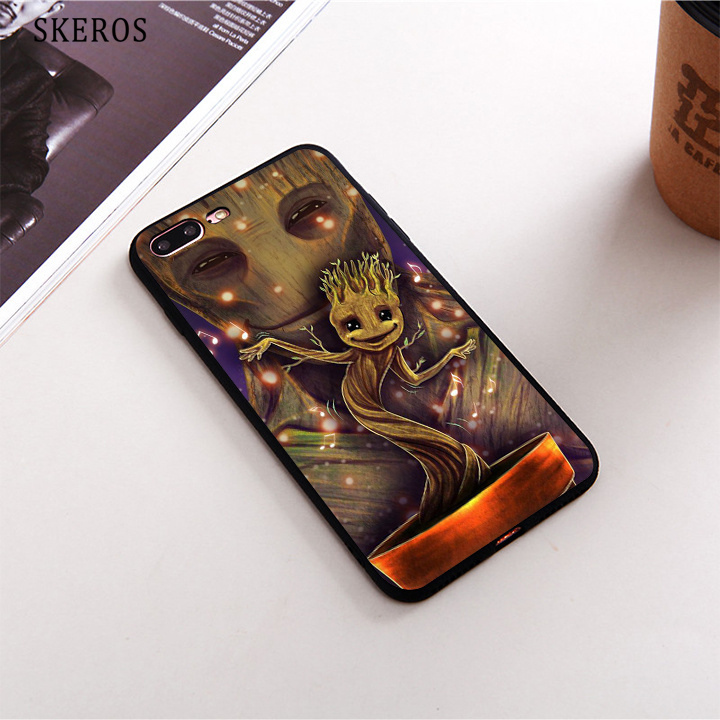 SKEROS for Guardians Of The Galaxy we are groot TPU Phone Case Soft Cover For X 5 5S Se 6 6S 7 8 6&6S Plus 7 Plus 8 Plus #da158