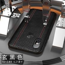Del Cuoio genuino di Lusso Per Il Caso di Xiaomi MI8 PRO ESPLORARE MI8SE Pelle Bovina Pieno di Protezione di Sostegno Della Copertura di adsorbimento magnete