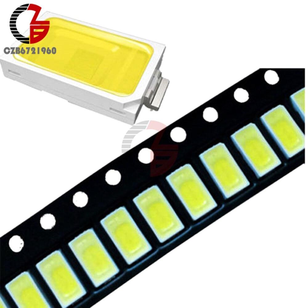 100PCS 120 Degrees SMD SMT -EE132 5730 LED Beads White 6050-7000K LED Light Bead 50-55LM 3.3V-3.6V