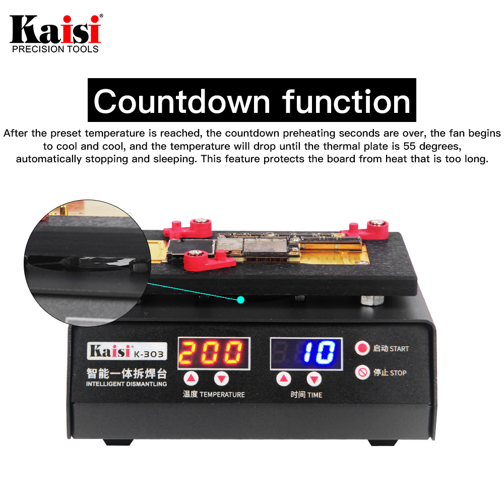 Tools : kaisi K-303 SS-T12A Motherboard Repair Tool Heating Station For iPhone X XS XS MAX CPU Heating Repair