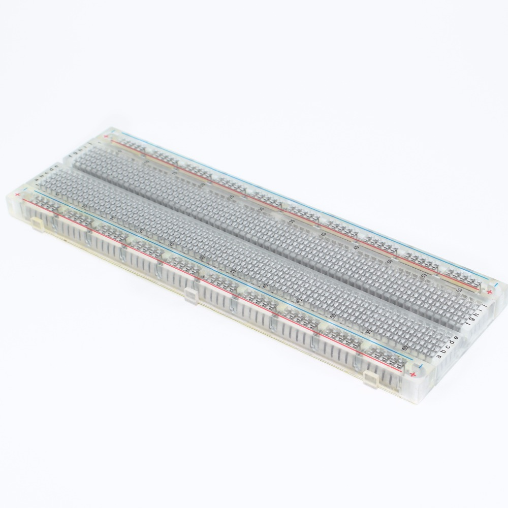 New High Quality Breadboard Mb830 Point Solderless Pcb Prototype With 400 Tie Points And Matching 830 Bread Board Mb 102 Mb102 Test Develop Diy Transparent