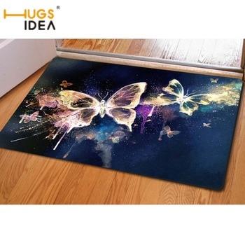 HUGSIDEA-alfombra 3D con diseño de mariposa para el hogar, sala de estar,...