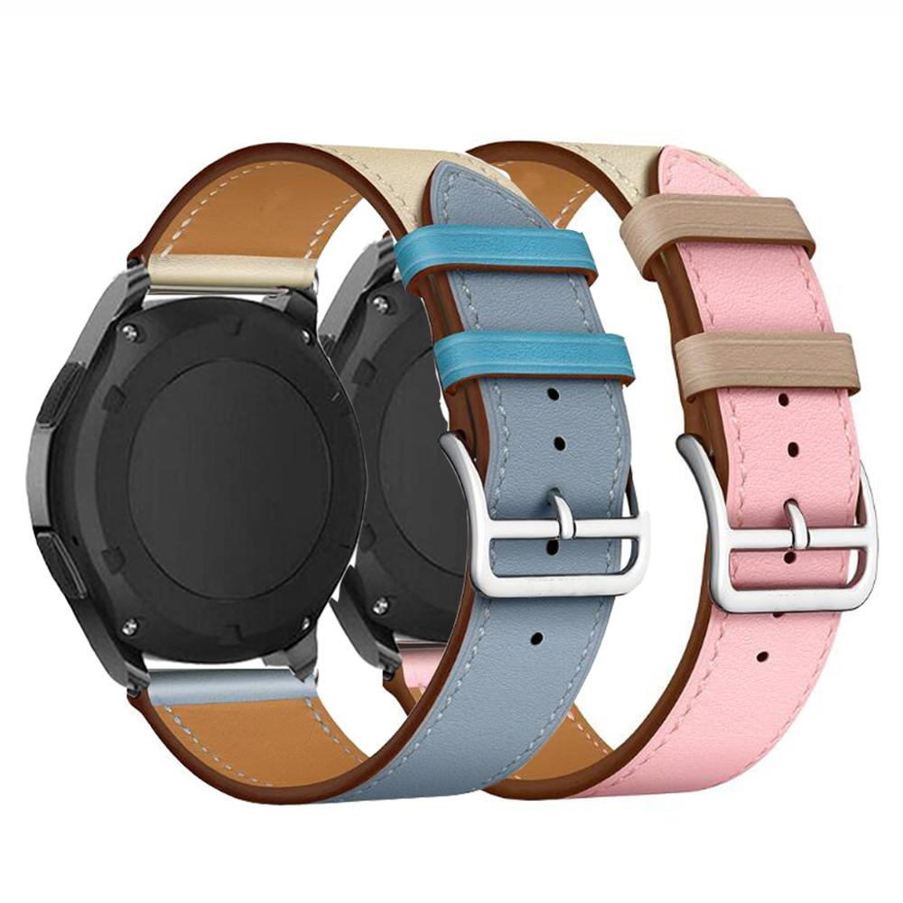 Leather 22mm 20mm Strap Huawei Gt 2 For Samsung Gear S2 Sport S3 Classic Frontier Galaxy Watch 42mm 46mm Band Huami Amazfit Bip