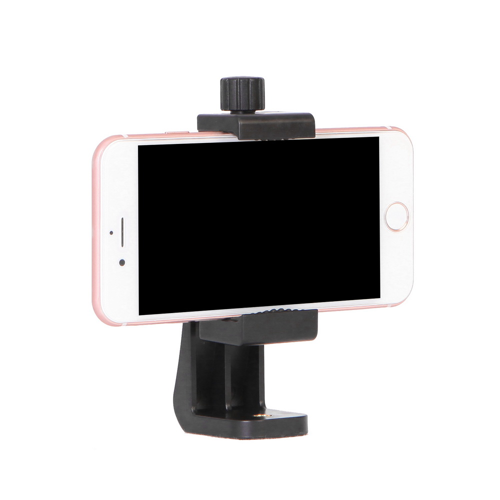 Universal Mobile Phone Live Stand Holder 360 Degree Rotation Mini Lightweight Table <font><b>Tripod</b></font> <font><b>Mount</b></font> <font><b>Adapter</b></font> Kit with <font><b>1/4</b></font> <font><b>Screw</b></font> Hole image