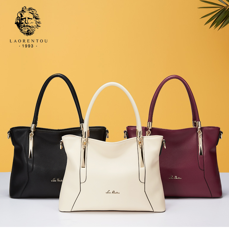 LAORENTOU Women Bags Luxury Ladies Cowhide Leather Handbags Casual Women's Bags Shoulder Bag Crossbody Bags Women Handbag laorentou cowhide leather shoulder bag ladies leather luxury handbags women bags designer ladies shoulder bag casual tote