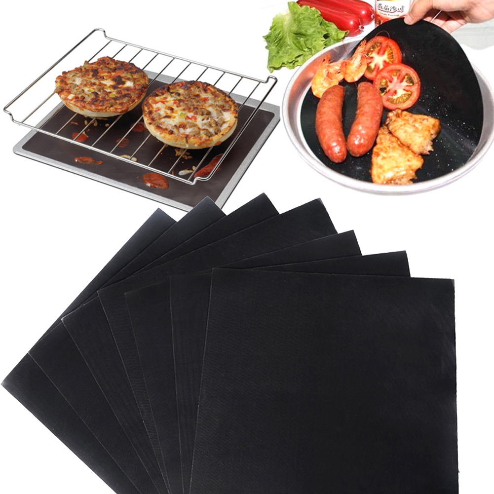 4 Pcs/Set BBQ Grill Mat Pad Sheet Hot Plate Portable Easy
