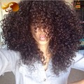 Virgin Перуанские Glueless Фронта Шнурка Человеческих Волос Парики Afro Kinky вьющиеся Полный Шнурок Человеческих Волос Парики Для Чернокожих Женщин Отбеленные узлы