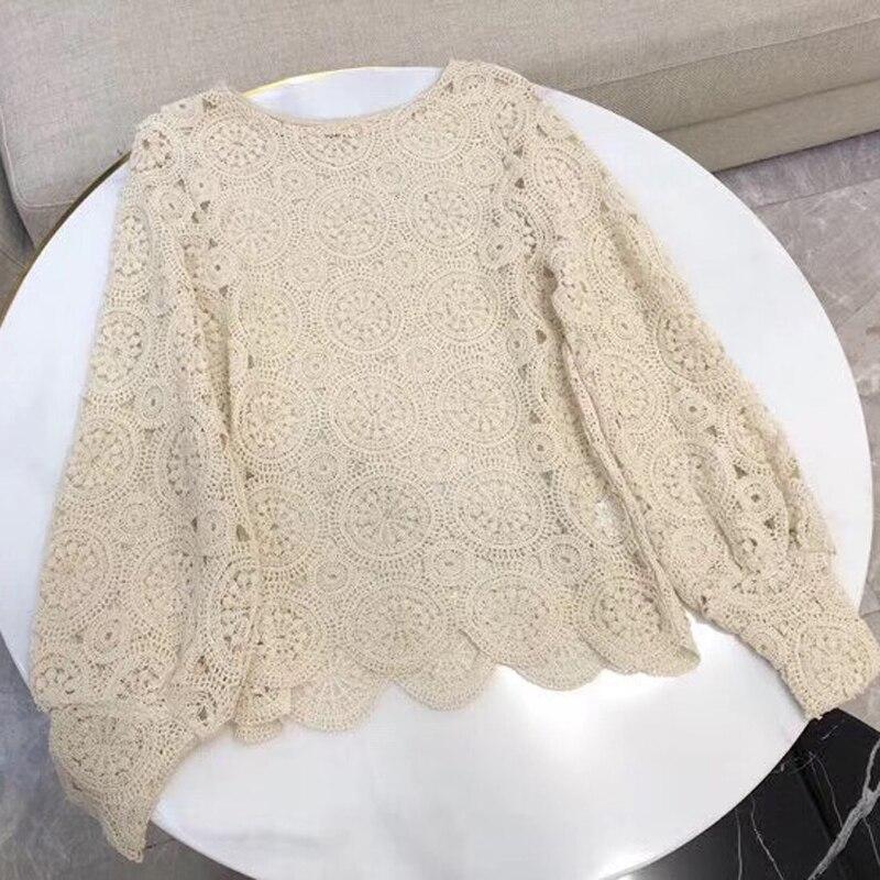 Été T Shirt femmes évider chemises courtes femmes hauts décontracté