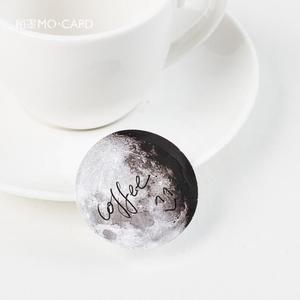 Image 5 - 24 pack/lot Dark Moon Star Decorative Stickers Adhesive Stickers DIY Decoration Diary Stickers Box Package