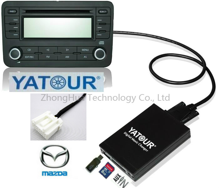 Yatour Digital Music Car Audio USB Stereo Adapter MP3 AUX Bluetooth for Mazda interface CD Changer yatour digital music car cd changer mp3 usb sd bluetooth aux adapter for honda accord civic crv acura 2004 2011 mp3 interface