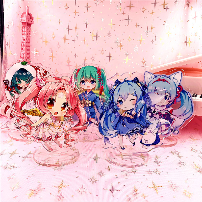 Anime Hatsune Miku Little Cute Acrylic Stand Model Toys Hatsune Miku Action Figure Pendant Toy Gift