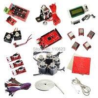 Полный 3D принтер Стартовые наборы Ramps1.4, LCD2004, радиатор MK2a, Nema17 шаговый двигатель, A4988 драйвер, алюминиевая пластина