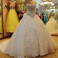 Vestido de noiva Luxury Lace Bride Wedding Dress High grade Sweet Romantic Crystal Beaded Banquet Ball Gown Party Formal Dresses