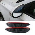 Coche de carbono estilo del espejo retrovisor lluvia ceja impermeable Flexible Protector de la cuchilla accesorios para KIA Sportager 2012-2013
