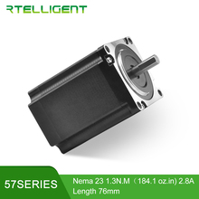 Обувь по заводским ценам с 4мя фазами, Nema 23 шагового двигателя 57 двигатель 0,9/1,3/2.2N.M 2,8/4.0A 6,35 мм Diame для фрезерного станка с ЧПУ машина