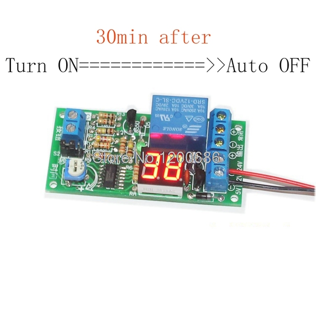 Auto Turn Off Switch Timer Relay DC 12V Delay Time Switch Timer - On Off Relay Timer Circuit