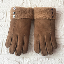 Winter gloves Guantes mujer New 2019 Soft Leather Australian Sheepskin Gloves For Women | Premium, & Fluffy