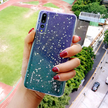 Cute Glitter Case For Huawei p20 mate20 lite honor 10 9 p10 p8 Clear Bling Star Cover For Huawei mate20 p20 mate10 pro Case Nova